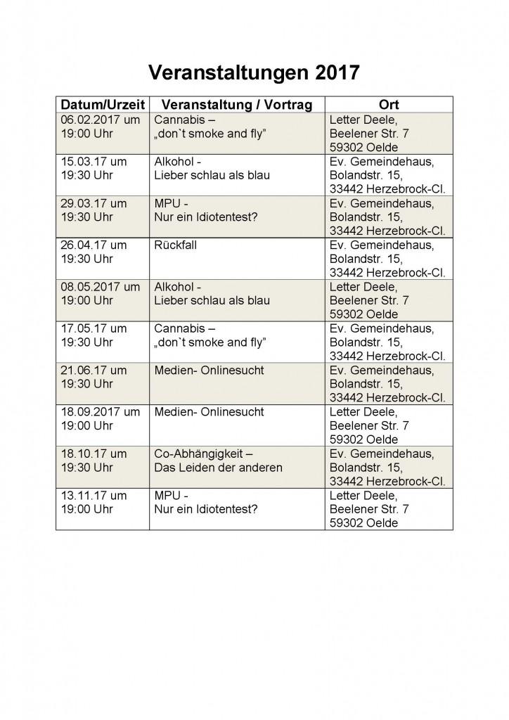 Veranstaltungen 17